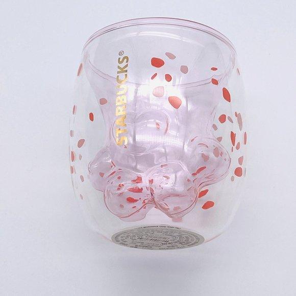 NEW Starbucks Glass Paw Cherry Blossom  LE